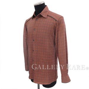 エルメス シャツ チェック柄 長袖 メンズサイズ15/38 HERMES 服 チェックシャツ|gallery-rare