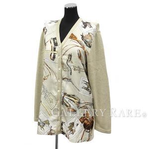 エルメス カーディガン シルク ベージュ レディースサイズL  服 長袖【ファッション】|gallery-rare