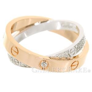カルティエ リング ビーラブリング パヴェダイヤモンド 0.19ct K18PGピンクゴールド K18WGホワイトゴールド サイズ48 B4094600 B4094648 Cartier|gallery-rare