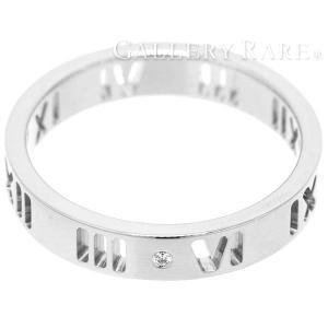ティファニー リング アトラス ダイヤモンド 4Pダイヤ K18WGホワイトゴールド リングサイズ約11号 TIFFANY 指輪|gallery-rare