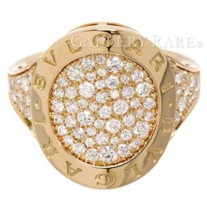 ブルガリ リング ブルガリ・ブルガリ パヴェダイヤ ダイヤモンド K18PGピンクゴールド リングサイズ約16.5号 BVLGARI 指輪 ジュエリー ダイアモンド gallery-rare