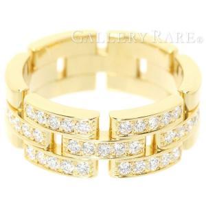 カルティエ リング マイヨン パンテール 3連 ハーフパヴェダイヤモンド 0.53ct K18YGイエローゴールド リングサイズ58 B4127100 Cartier ジュエリー 指輪|gallery-rare