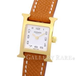 エルメス Hウォッチ ミニ ゴールド ヴォーエプソン A刻印 HH1.101 HERMES 腕時計|gallery-rare