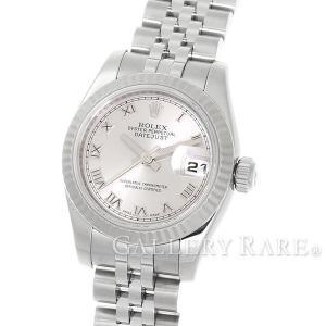 ロレックス デイトジャスト K18WGホワイトゴールド シルバー文字盤 M番 179174 ROLEX 腕時計 レディース|gallery-rare
