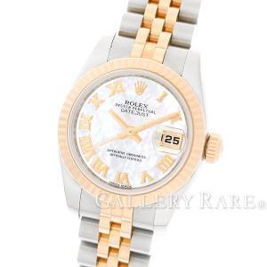 ロレックス デイトジャスト ホワイトシェル ランダムシリアル ルーレット 179171NR ROLEX 腕時計 レディース|gallery-rare