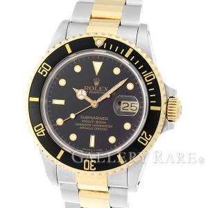 ロレックス サブマリーナ デイト コンビ SS×K18YGイエローゴールド 9番 16803 ROLEX 腕時計|gallery-rare