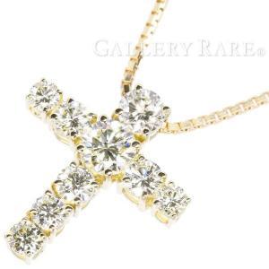 ダイヤモンド ネックレス クロス ダイヤモンド 計1.83ct K18YGイエローゴールド ジュエリー ダイアモンド ペンダント|gallery-rare