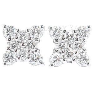 ブルガリ ピアス フラワー ダイヤモンド K18WGホワイトゴールド BVLGARI ジュエリー イヤリング 花 gallery-rare
