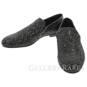 ジミーチュウ シューズ スリッポン グリッター ラメ メンズサイズ42 JIMMY CHOO 靴 メンズ gallery-rare