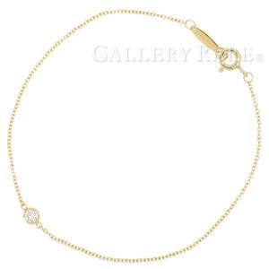 ティファニー ブレスレット バイザヤード ダイヤモンド 0.08ct K18YGイエローゴールド Tiffany&Co. ジュエリー|gallery-rare