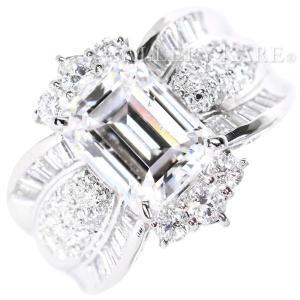 ダイヤモンド リング 3.21ct 1.07ct プラチナ900 Pt900 ジュエリー 指輪 サイズ約13号 メレダイヤ テーパーダイヤ|gallery-rare