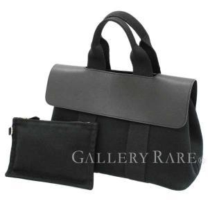 エルメス ハンドバッグ ヴァルパライソPM ブラック×シルバー金具 トワルシェブロン×ヴォースイフト HERMES バルパライソ メンズ gallery-rare