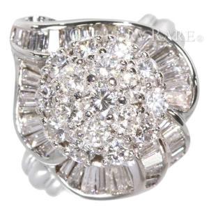 ダイヤモンド リング 3.00ct プラチナ900 PT900 リングサイズ約13号 ジュエリー 指輪 ダイアモンド|gallery-rare