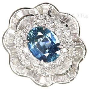 サファイア リング ブルーサファイア 1.78ct ダイヤモンド 2.61ct プラチナ900 Pt900 リングサイズ約13.5号 ジュエリー 指輪|gallery-rare