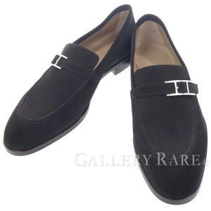 エルメス ローファー スエード アピ メンズサイズ42 HERMES 靴 ビジネスシューズ スリッポン メンズ|gallery-rare