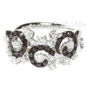 ダイヤモンド リング ダイヤ 計0.63ct ブラックダイヤモンド K18WG ホワイトゴールド サイズ約12号 ジュエリー ダイアモンド 指輪|gallery-rare