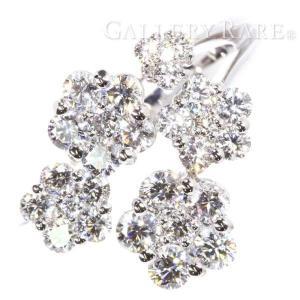 ダイヤモンド リング フラワーモチーフ ダイヤモンド 1.70ct K18WG  ホワイトゴールド サイズ約18号 ジュエリー 指輪 ジュエリー|gallery-rare