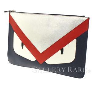 フェンディ クラッチバッグ モンスター バッグ バグズ 7N0078 FENDI バッグ ポーチ Bag Bugs トリコロール|gallery-rare