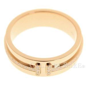 ティファニー リング ツーナローリング ダイヤモンド 計0.13ct K18PGピンクゴールド サイズ約9号 TIFFANY ジュエリー 指輪|gallery-rare
