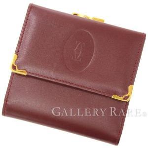 カルティエ 財布 マスト ドゥ カルティエ がま口三つ折り財布 L3000039 Cartier メンズ gallery-rare
