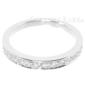 ティファニー リング ウエディング バンドリング ハーフエタニティ ダイヤモンド プラチナ950 サイズ約11.5号 Tiffany&Co. ジュエリー 指輪|gallery-rare