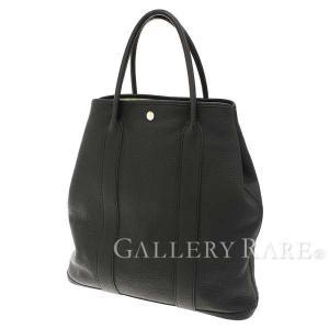 エルメス トートバッグ ガーデンファイルMM ブラック×シルバー金具 ネゴンダ ビジネスバッグ 黒 メンズ|gallery-rare