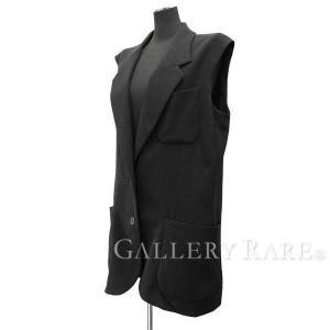 エルメス ジレ ブラック レディースサイズ42 HERMES 服 アウター ロングベスト|gallery-rare