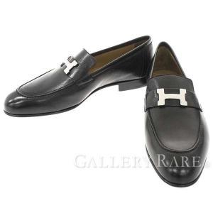 エルメス シューズ パリ Paris モカシン シェーブル Hモチーフ メンズサイズ42 HERMES 靴 メンズ ビジネスシューズ|gallery-rare