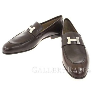 エルメス シューズ パリ Paris モカシン シェーブル Hモチーフ メンズサイズ42 HERMES 靴 メンズ ビジネスシューズ gallery-rare