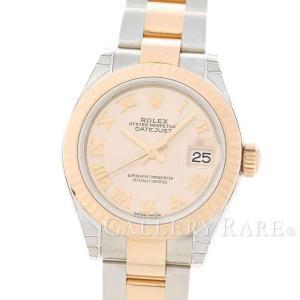 ロレックス デイトジャスト28 K18PGピンクゴールド ランダムシリアル ルーレット 279171 ROLEX 腕時計 レディース|gallery-rare