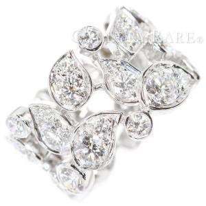 カルティエ リング サテン ダイヤモンド フルダイヤ K18WGホワイトゴールド スズランモチーフ サイズ49 Cartier 指輪 ジュエリー|gallery-rare