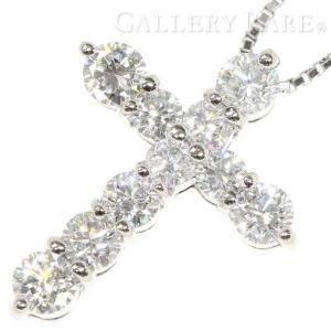 ダイヤモンド ネックレス クロスモチーフ ダイヤモンド 計1.02ct プラチナ900 プラチナ850 Pt900 Pt850 ジュエリー ペンダント 十字架|gallery-rare