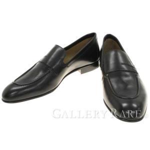 エルメス ローファー プラザ Plaza モカシン カーフ Hロゴ 靴 メンズサイズ41 1/2 スリッポン ビジネスシューズ gallery-rare