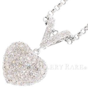 ダイヤモンド ネックレス ハート パヴェダイヤ 計2.00ct プラチナ900 プラチナ850 K14ホワイトゴールド|gallery-rare