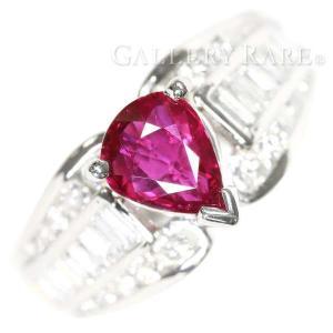 ルビー リング ルビー 1.21ct ダイヤモンド 0.91ct プラチナ850 Pt850 リングサイズ約9号 ジュエリー 指輪 ダイアモンド|gallery-rare