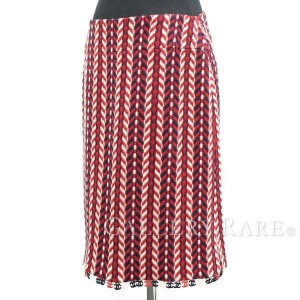 シャネル スカート ツイード ココマーク ウール レディースサイズ40 04A P24617 CHANEL 服 アパレル ネイティブ柄 オルテガ柄|gallery-rare
