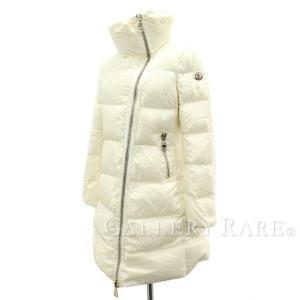 モンクレール ダウンコート ホワイト レディースサイズ3 MONCLER 服 アウター ダウンジャケット|gallery-rare
