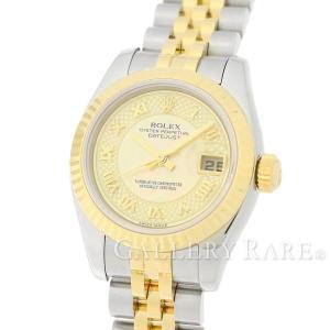 ロレックス デイトジャスト K18YGイエローゴールド F番 179173 ROLEX 腕時計 レディース イエローシェル文字盤|gallery-rare