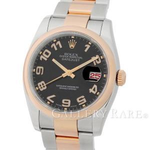 ロレックス デイトジャスト K18PGピンクゴールド D番 ルーレット 116201 ROLEX 腕時計 コンセントリック文字盤|gallery-rare