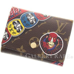 ルイヴィトン 三つ折り財布 モノグラム ポルトフォイユ・ヴィクトリーヌ 日本限定 M67253 歌舞伎モチーフ 財布 だるま|gallery-rare