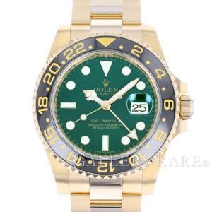 ロレックス GMTマスター 2 K18YGイエローゴールド D番 ルーレット 116718LN ROLEX 腕時計 スティックダイヤル|gallery-rare