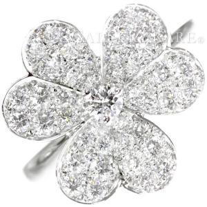 ヴァンクリーフ&アーペル リング フリヴォル 1フラワー ダイヤモンド 43石 0.8ct K18WG サイズ49 Van Cleef&Arpels|gallery-rare