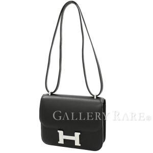 エルメス ショルダーバッグ ミニ コンスタンス3 ブラック×シルバー金具 ヴォースイフト A刻印 HERMES バッグ|gallery-rare