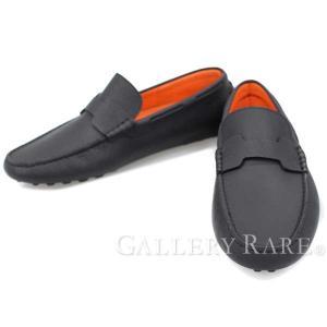 エルメス シューズ オスカー Oscar ドライビングシューズ メンズサイズ41 黒 HERMES 靴 メンズ スニーカー スリッポン|gallery-rare