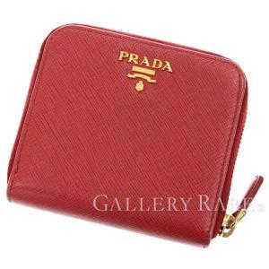 プラダ 財布 サフィアーノ SAFFIANO METAL レッド 1ML522 PRADA 二つ折財布|gallery-rare