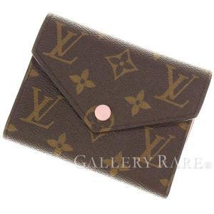 ルイヴィトン 三つ折り財布 モノグラム ポルトフォイユ・ヴィクトリーヌ M62360 ヴィトン ピンク コンパクト財布|gallery-rare
