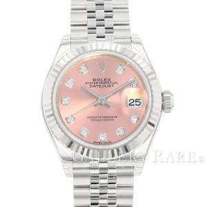 ロレックス デイトジャスト28 K18WG SS 10Pダイヤ ピンク文字盤 279174G ROLEX 腕時計 レディース|gallery-rare