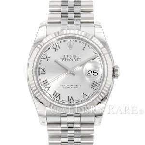 ロレックス デイトジャスト 36 K18WGホワイトゴールド 116234 ROLEX 腕時計 グレー ローマン|gallery-rare