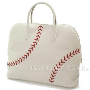 エルメス ボリード1923 ベースボール45 パールグレー×ルージュカザック×シルバー金具 エヴァーカラー バッグ