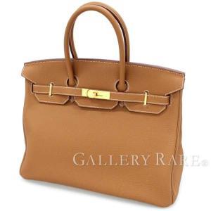 エルメス バーキン35 cm ハンドバッグ ゴールド×ゴールド金具 トゴ C刻印 HERMES Birkin バッグ